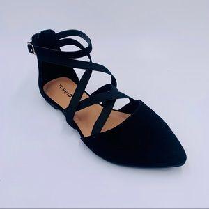 Torrid shoes faux suede flats black women size 8.5